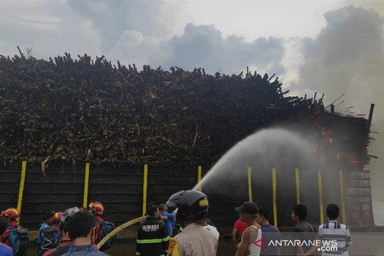 Kapal tongkang muat kayu akasia terbakar di Siak berasal dari Kaltim