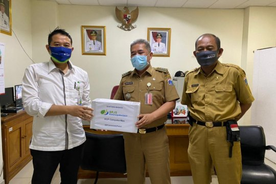 BPJAMSOSTEK bantu masker sukseskan PSBB transisi COVID-19 di Jakarta