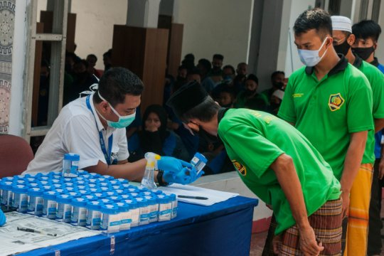 BNN Banten lakukan tes urine narapidana Lapas Rangkasbitung