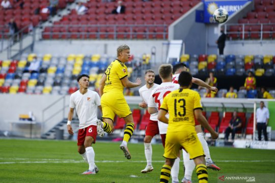 Gol semata wayang Haaland amankan kemenangan tipis Dortmund