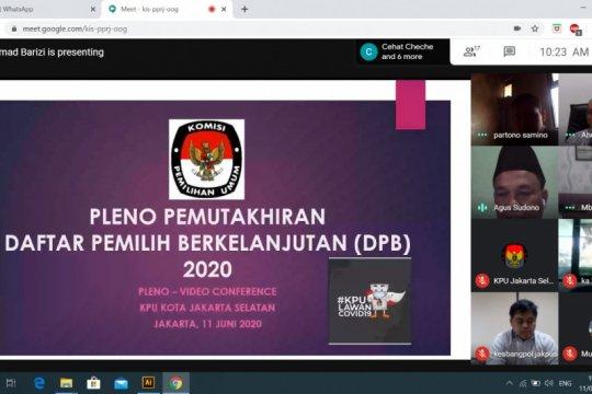 KPU Jaksel mutakhirkan daftar pemilih berkelanjutan secara daring
