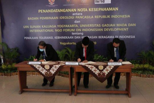 BPIP, UGM, UIN Suka, INFID kerja sama pemajuan toleransi di Indonesia