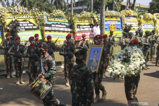 Upacara persemayaman Jenderal TNI (Purn) Pramono Edhie Wibowo