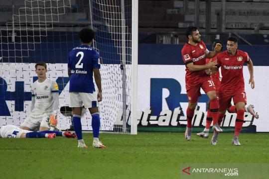 Leverkusen masuk zona Liga Champions setelah imbangi Schalke