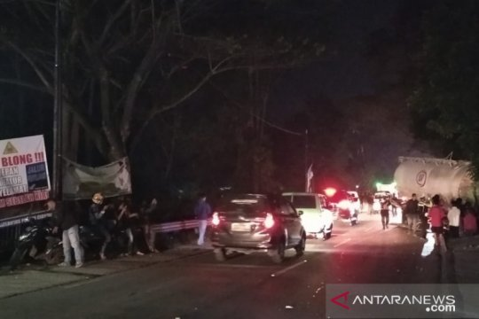 Satu orang meninggal pada tabrakan beruntun di Cianjur-Sukabumi