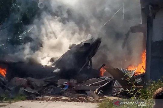 Pesawat tempur jatuh di Riau