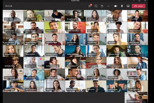 Mirip Zoom, Microsoft Teams akan tampilkan 49 orang dalam layar
