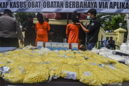 Peredaran narkoba lewat aplikasi terungkap di Banjar