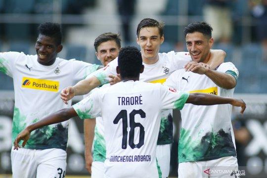 Gladbach naik ke peringkat empat setelah pukul Wolfsburg 3-0