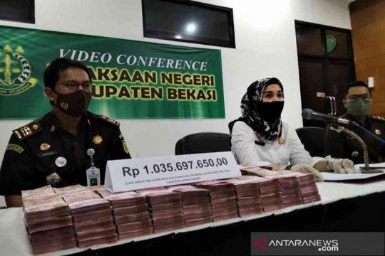 Kejaksaan Kabupaten Bekasi terima Rp1 miliar kerugian negara