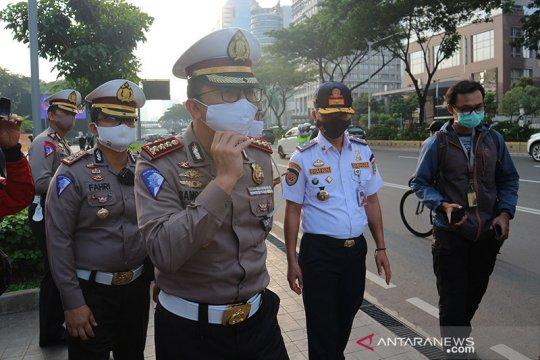 Polisi-Dishub batasi jam pemberlakuan jalur sepeda sementara