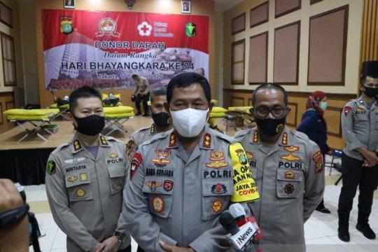 Ribuan personel Polda Metro Jaya donorkan darah jelang HUT Bhayangkara