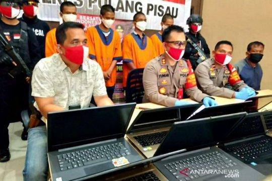 Polisi Pulang Pisau ringkus kawanan pencuri laptop sekolah