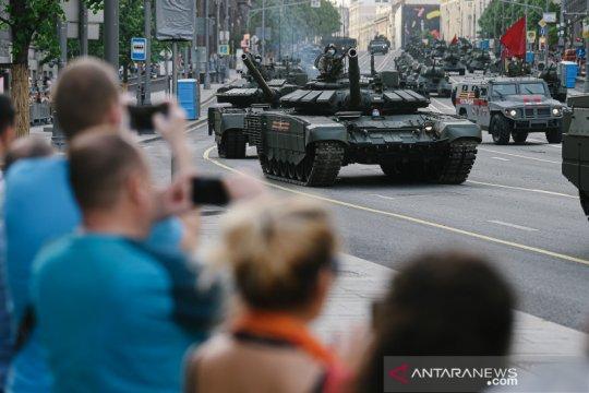 Latihan Parade Hari Kemenangan di Moskow