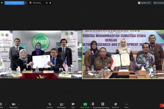 Tanda tangani MoU, UMSU-MARDI Malaysia kerja sama penelitian pertanian
