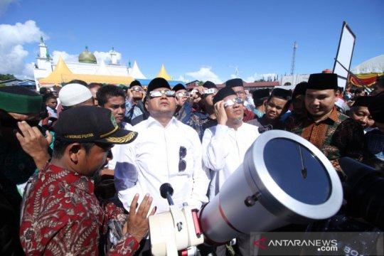 Aceh pantau gerhana matahari parsial ikuti protokol COVID-19