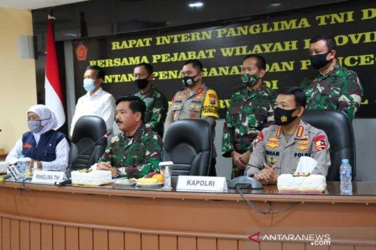 Panglima TNI-Kapolri pimpin rapat penanganan COVID-19 di Jatim