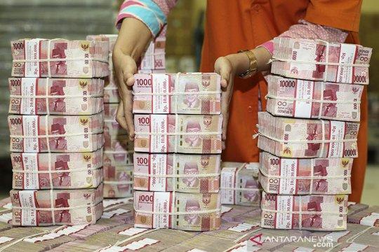Rupiah melemah di tengah tarik menarik sentimen di pasar uang