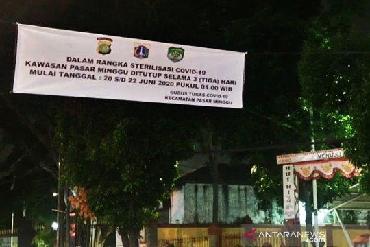 Pasar Minggu Jakarta Selatan juga ditutup selama tiga hari mulai Sabtu