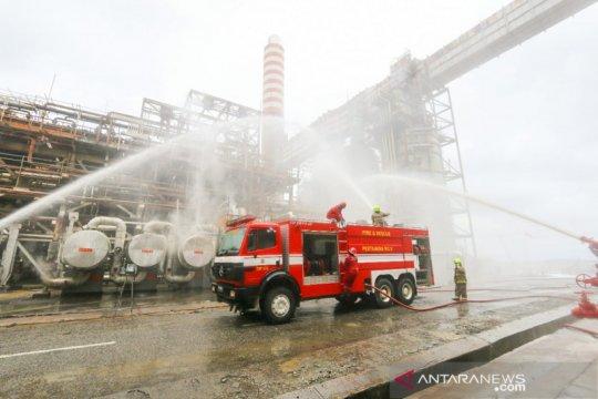 Kebakaran landa area Proyek RDMP Kilang Balikpapan
