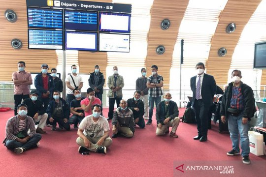 Tiga bulan menanti, 20 WNI ABK di Prancis akhirnya pulang ke tanah air