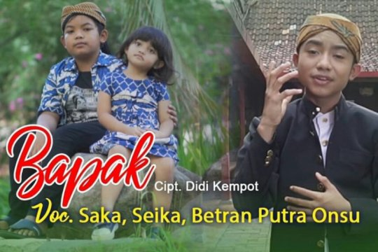 """Anak Didi Kempot kolaborasi dengan Betrand Peto nyanyikan lagu """"Bapak"""""""