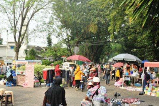 Kawasan CFD Palembang kembali dipenuhi warga  dan pedagang
