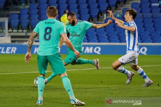 Real Madrid rebut puncak klasemen setelah menang di Sociedad