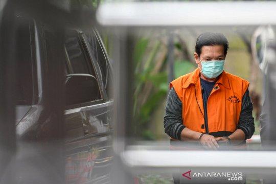 JPU KPK limpahkan berkas perkara mantan Ketua DPRD Muara Enim Aries HB