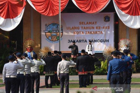 Upacara peringatan HUT ke-493 Jakarta