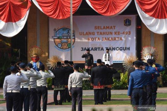 Upacara 17 Agustus di Balai Kota Jakarta hanya diikuti 100 peserta