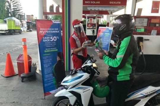 Transaksi nontunai di SPBU Surabaya capai 9.800 per hari