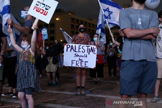 Unjuk rasa menentang rencana aneksasi Israel terhadap Palestina