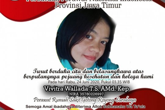 PPNI Jatim: Dua perawat di Surabaya meninggal terpapar COVID-19