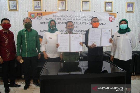 Pemkab Gorontalo dan KPU tandatangani NHPD