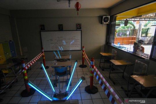 Simulasi kegiatan belajar mengajar di sekolah dalam era normal baru