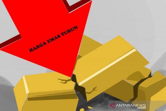 Emas turun karena ambil untung dipicu kenaikan kasus corona global
