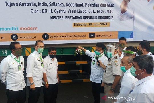 Mentan lepas ekspor komoditas pertanian Jatim ke 17 negara