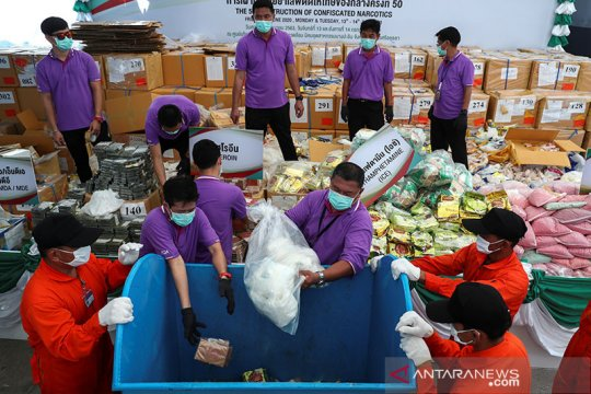 Thailand, Myanmar musnahkan narkoba senilai Rp28 triliun