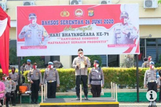 Hari Bhayangkara, Polda Lampung bagikan 20.650 paket sembako