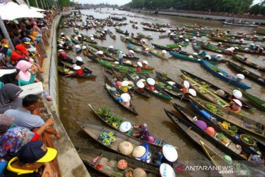 Pemerintah Kota Banjarmasin belum izinkan Pasar Terapung dibuka