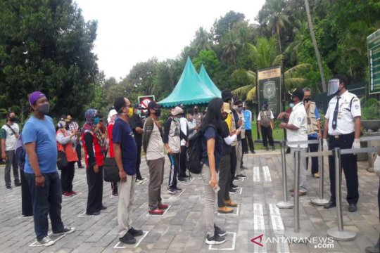 Balai Konservasi simulasi layanan wisata di zona I Candi Borobudur