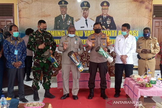 Polda Papua Barat luncurkan 13 kampung tangguh COVID-19