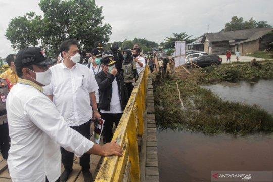 Menteri meninjau lahan ketahanan pangan baru di Kalimantan Tengah