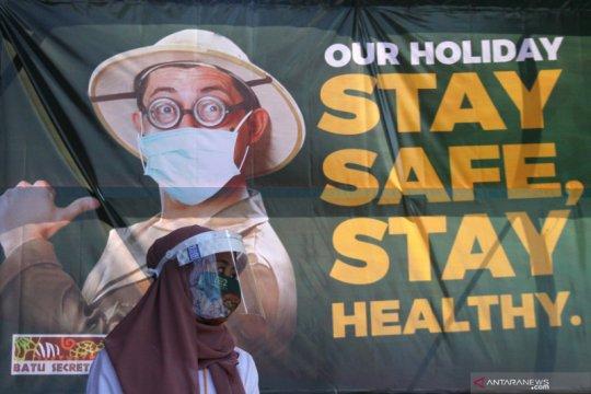 Obyek wisata Jatim Park kembali dibuka dengan menerapkan protokol kesehatan