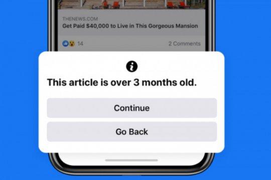 Facebook peringatkan pengguna sebelum unggah tautan berita lama