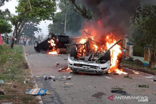 Kerusuhan di Madina Sumut, satu SSK Brimob dikerahkan