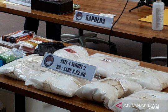 Polda Metro sita 11,82 kilogram sabu dari empat pengedar