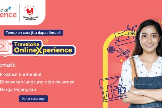 "Traveloka hadirkan ""Online Xperience"" dukung industri kreatif lokal"