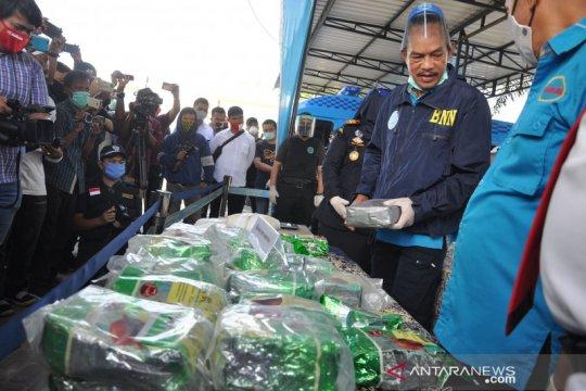 Penyelundupan 40 kg sabu dari Malaysia digagalkan BNN dan Bea Cukai